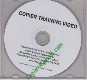 Intravia's Copier Training Video Package (includes The Imaging Guide)