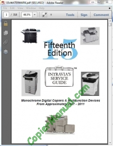Intravia's 15th (2007-2011) copier service guide